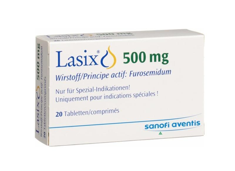 Для уменьшения отеков назначают мочегонное средство, к примеру, Лазикс