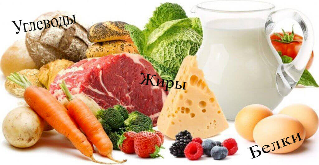 В меню должны присутствовать все необходимые элементы питания
