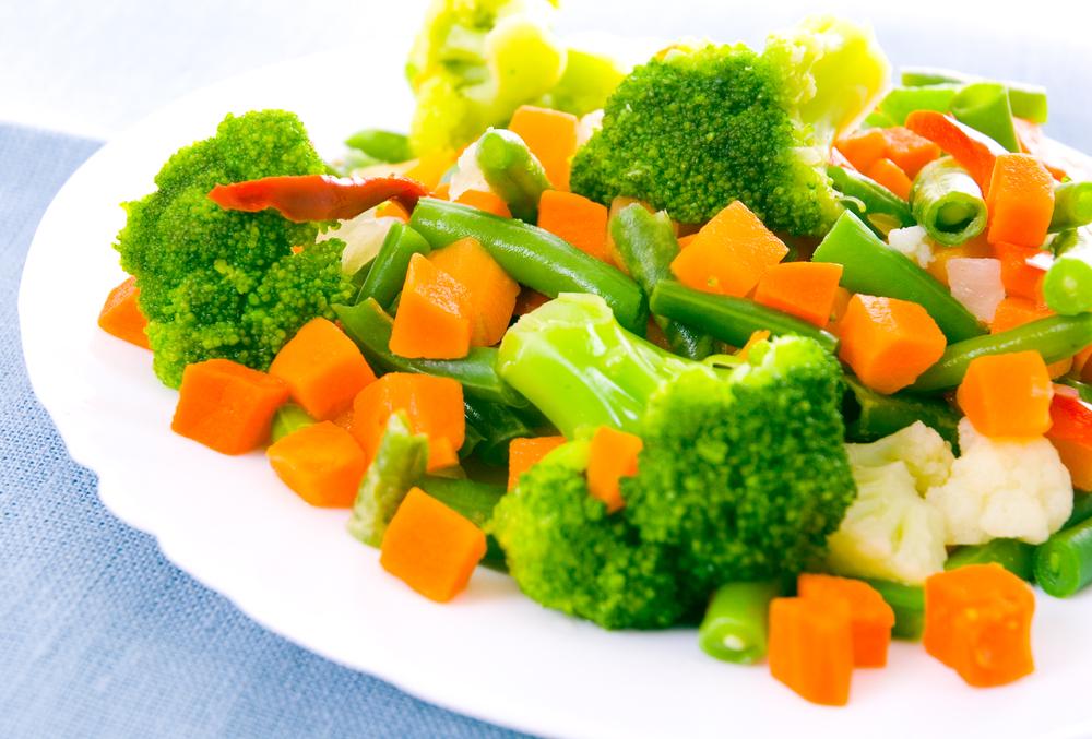 Овощи на пару приготовить