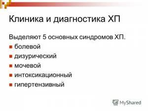 Классификация ХП по Логинову
