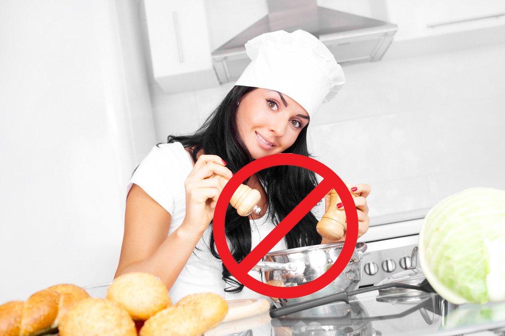 Исключите из рациона острые блюда